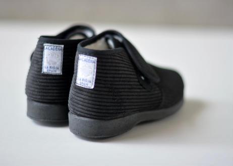 【 La Cadena 20AW 】 BOTA VELCRO HIGH-CUT / BLACK × BLACK SOLE / 15〜21cm
