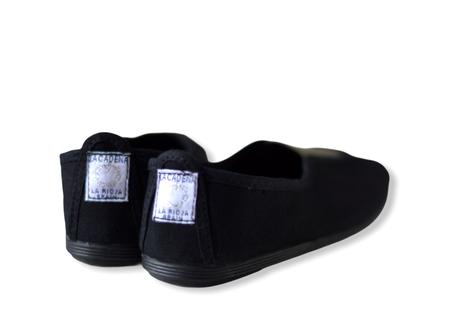 【 La Cadena 20AW 】 GIMNASIA   PANEL COLOR SLIP ON / BLACK × OLIVE / 23.5〜24.5cm