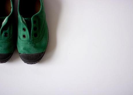 【 Cienta 】デッキシューズ 955777 / green / dyed / 13~21cm
