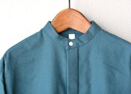 "【 MOUN TEN. 20AW 】flannel long shirts  [MT202015] "" ワンピース ""  / iron blue"