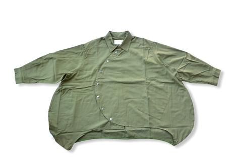 【 nunuforme 20AW 】サークル シャツ [nf14-545-012] / Khaki