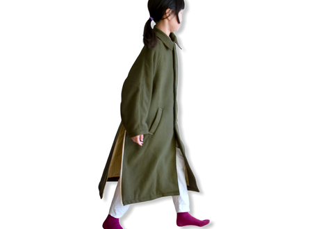 """【 GRIS 20AW】GR20AW-CO001B  Stainless Collar Coat """"コート"""" / Moss / M-L"""