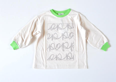 "【 franky grow 2020AW 】FLOCKY POP L/S TEE [20FWCS-367] ""カットソー""  / SHELL PINK – GRAY pnt"
