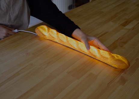 """【 PAMPSHADE 】""""本物のパンからできたインテリアライト"""" """"バタール"""" /  調光スイッチタイプ / 壁掛けOK!(パンプシェード)"""