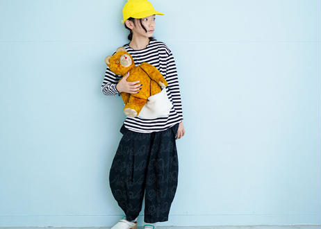 """【 franky grow 2020AW 】REMOBABLE SUSPENDER PROJECT PANTS [20FWBT-234HD] """"パンツ""""  / WHITE*BLACK"""