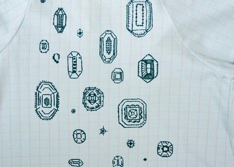 """【 ミナペルホネン 19SS 】XS8985P gemma """"ワンピース"""" / mint / 110-130cm"""