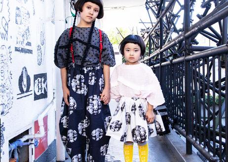 "【 franky grow 2020SS 】19SBT-252a AIRY SKIRT "" スカート "" / BLACK"