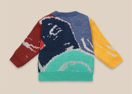 """【 Bobo Choses 20AW 】Multicolor Abstractions Cardigan(22000048)""""カーディガン"""""""