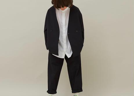 "【 MOUN TEN. 21SS 】double cloth stretch pants [21S-MP19B-0902c] ""パンツ"" / black / 1(Ladies F  )"