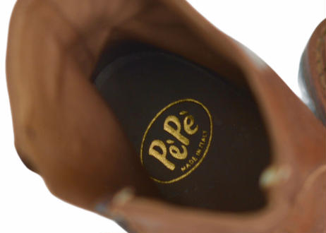 【 PePe 】 レザーブーツ  / キャメル / 18〜22cm