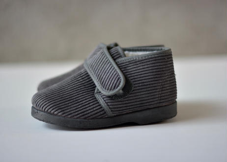 【 La Cadena 20AW 】 BOTA VELCRO HIGH-CUT / GRAY × BLACK SOLE / 15〜21cm