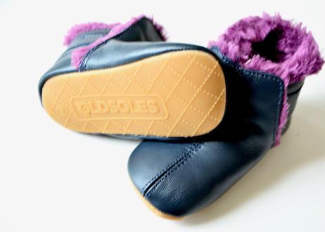 【限定】【 OLD SOLES アーカイブ 】 #045 Polar Boots / ピーカブーヤ別注カラー NAVY / PLUM FUR