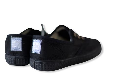 【 La Cadena 20AW 】 INGLES PARTIDO ELA Y.P. CLASSIC SLIP-ON / BLACK × BLACK SOLE / 17〜21cm