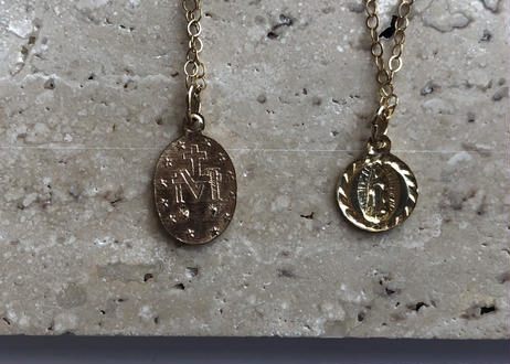 【14kgf】ネックレス(マリア像mini coin40cm)