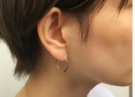 【14kgf】flatピアス(小)