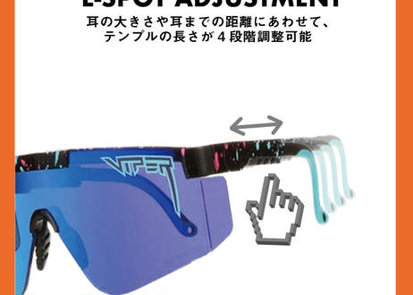 The Double Wides【THE RADICAL】(Polarized Rainbow Mirror Lends) 偏光 / (PITVIPER19025)