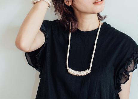 NOEUD Lineknot-necklace L Navy
