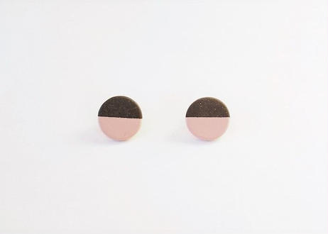 POINT HALF earrings Black / Pink