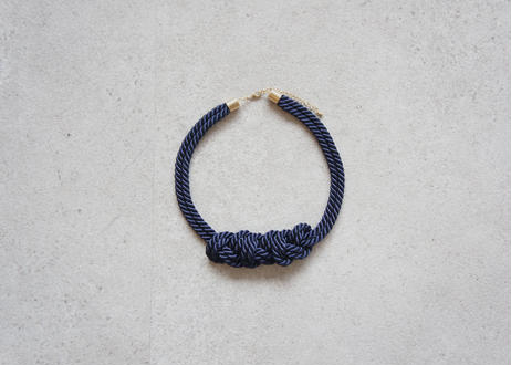 NOEUD 8knot-necklac Navy