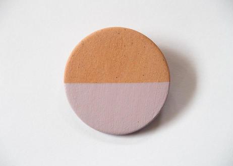 POINT HALF brooch Red/ Pink