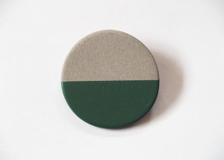 POINT HALF brooch Gray/ Green
