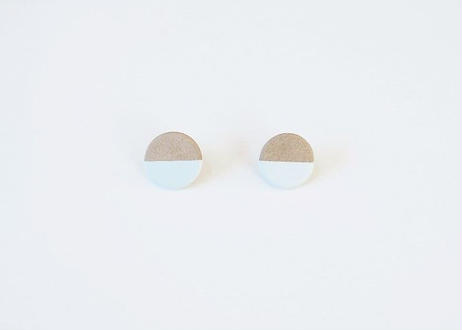 POINT HALF earrings Gray / Blue