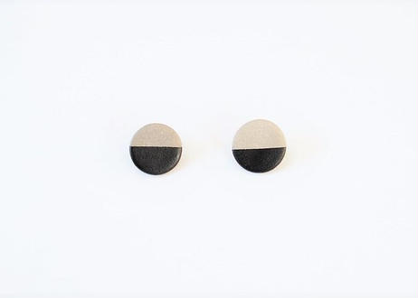 POINT HALF earrings Gray / Black
