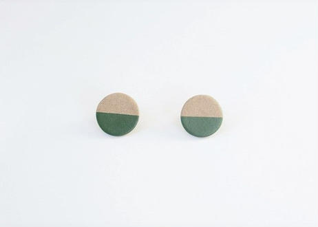 POINT HALF earrings Gray / Green