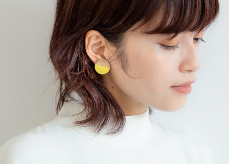 POINT HALF earrings Red / Yellow