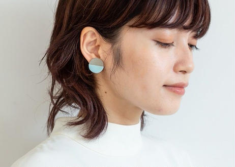 POINT HALF pierce  Gray / Blue