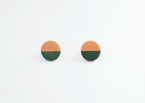 POINT HALF earrings Red / Green