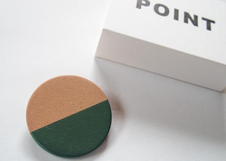 POINT HALF brooch Red/ Green