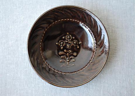 スリップウエア8寸皿 A _郡司製陶所
