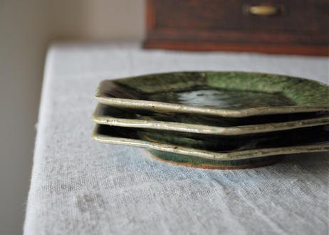 緑釉六角皿_及川静香