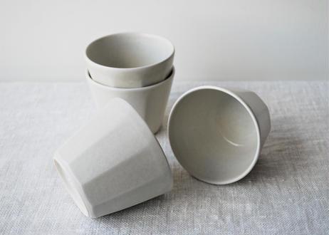 ヒワ釉 面取カップ