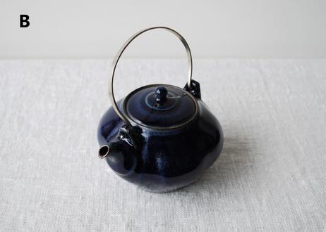 ルリ釉 土瓶