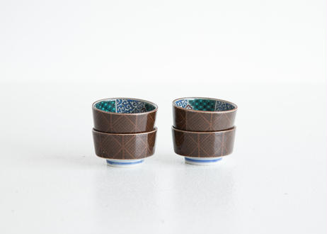 2種のブラウン小鉢