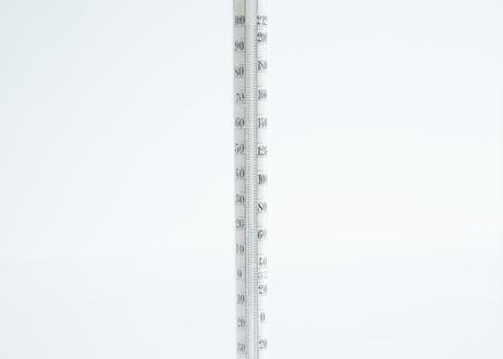 ガラスの温度計