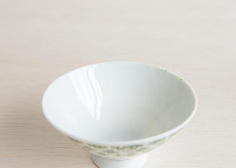 スタンプ模様のお茶碗4つセット(0575)