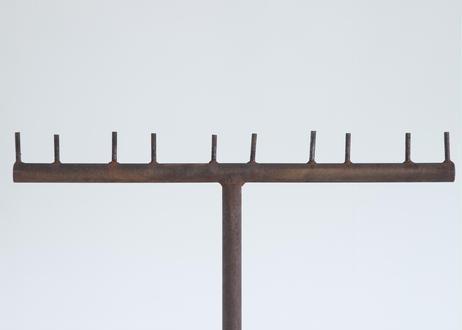 鉄と錆のポールスタンド