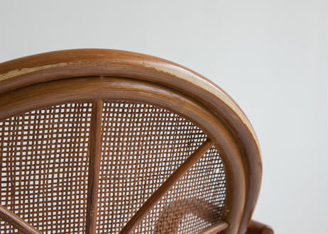 籐の回転いす(0589)