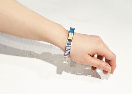 Annulus Bracelet Blue 10mm