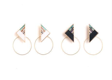Triangle Hoop Black