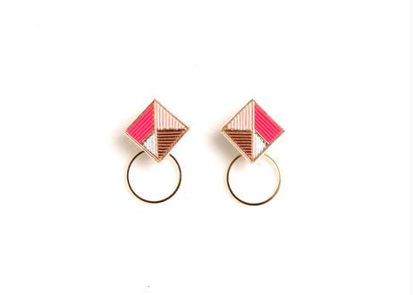 Square  Hoop <Pink>