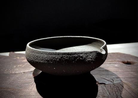 枝月窯  齋藤有希子×好信楽 祿 黒土焼き締め 湯さまし STONE