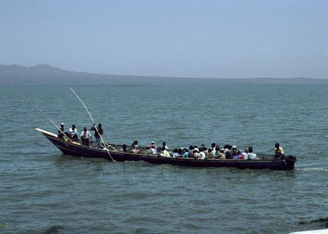 写真パネル<ラム島の渡し舟>直筆サイン付き 限定50枚