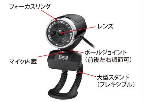 【テレワーク対応】FULL HD WEBカメラ(ブラック)サンワサプライ CMS-V37BK