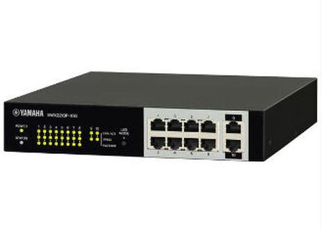 ヤマハ SWX2210P-10G  スマートL2 PoEスイッチ 10ポート PoE 給電対応
