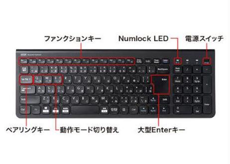 【テレワークに最適】サンワサプライ 充電式 Bluetoothスリムキーボード (テンキー付き・ブラック) (SKB-BT31BK)