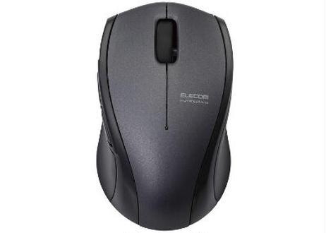 【テレワークに最適】カチカチしない! 静音Bluetoothマウス  エレコム BlueLEDマウス/M-BT16シリーズ/Bluetooth3.0/5ボタン/ブラック (M-BT16BBSBK)